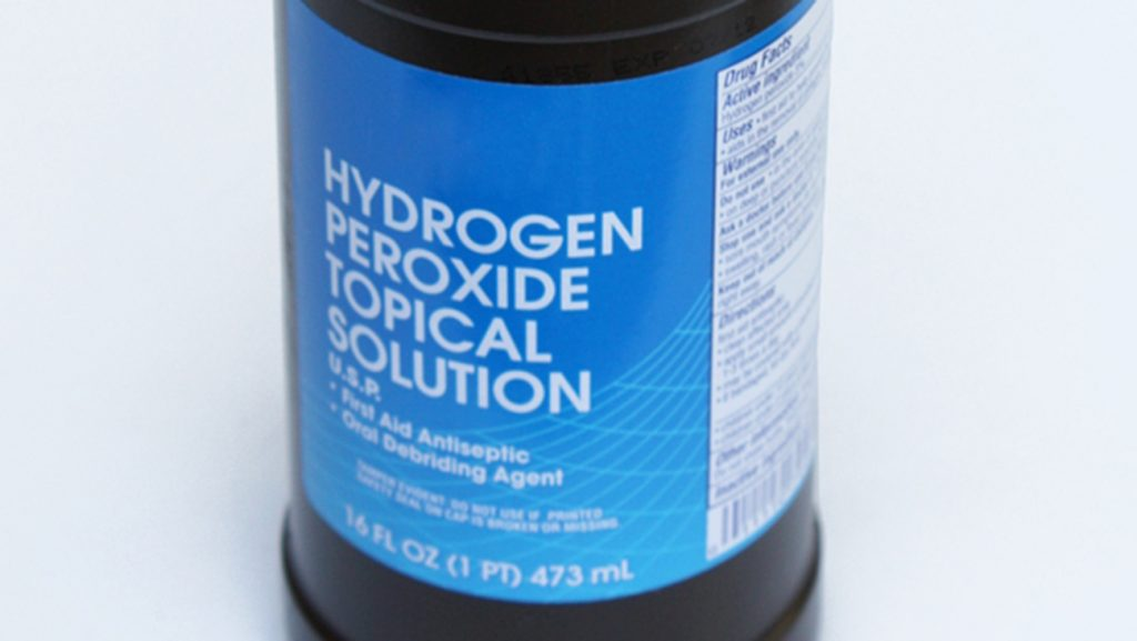 how to clean water bottles from inside: Using hydrogen peroxide