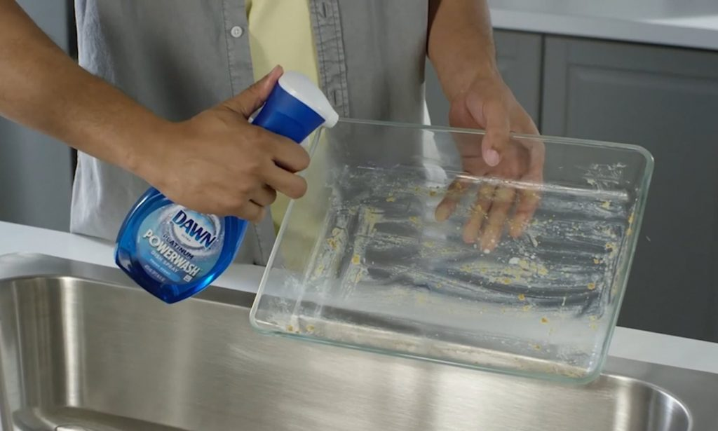 how to clean a water bottle: Using soapy water