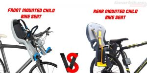child bike seat front or back